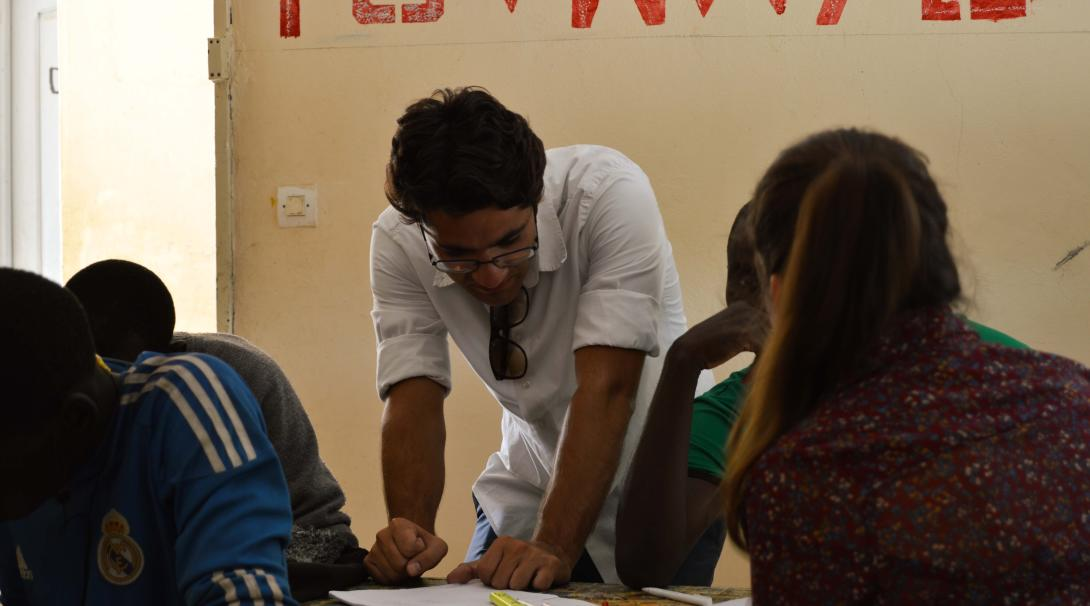 Projects Abroad volunteers doing a speech therapy internship work with students and staff in Ghana.